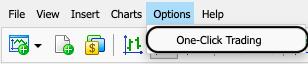 MetaTrader 5 one-click trading